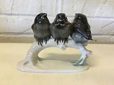 Vtg Rosenthal Porcelain Starling Sparrows Group Figurine Himmelstoss Design
