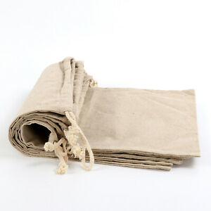5 Packs Reusable Linen Muslin Bread Storage Bags 11.8 x 13.7 Inch