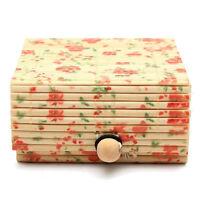 1pc Bamboo Storage Box Organizer Jewelry Case Boxes Wooden Trinket Storage Gift