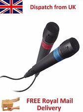 Official SingStar Playstation PS 2 3 4 Mic Microphone Pair Singing Karoake DJ