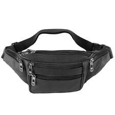 Black Waist Fanny Pack Belt Money Bag Pouch Travel Sport Hip Purse Men Women Bum