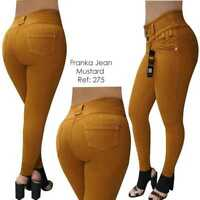 Original Levanta Cola Franka jeans push up 275 mustard high waist skinny jeans