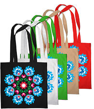 Bolsa De Compras Eco Azul Folk Estampado Floral comprador Bolso Playa Hombro Bolso