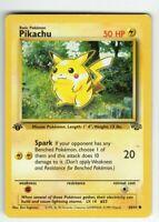 Pikachu - 1st Edition - Jungle Set - 60/64 - LP - Collectible - Pokemon Card