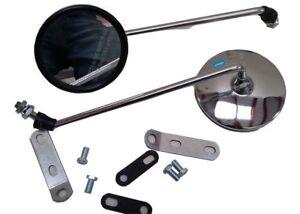 Vespa Pair Left & Right Headset E Side Mirrors Brackets PX LML
