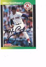 1989 Donruss Mike Smithson Boston Red Sox Authentic Autograph COA