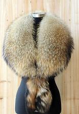 X-Large Extra Wide Full Raccoon Fur PELERINE Collar cape shawl scarf scarves
