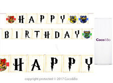 Coco&Bo - Happy Birthday Bunting - Hogwarts Harry Potter Party Decorations