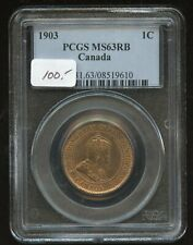 1903 Canada  Large Cent - PCGS MS 63 RB