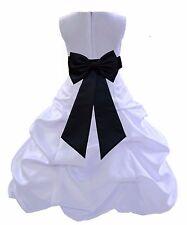 White Communion Easter Baptism Flower Girl Dress Formal size 2 4 6 8 10 12 14 16
