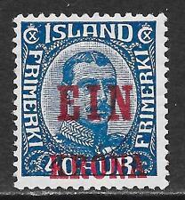Iceland stamps 1926 YV 120  MLH  VF