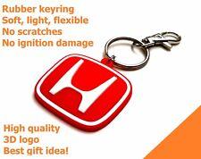 Honda porta chiavi auto moto Civic HRV CRV JDM gomma legera & flessible