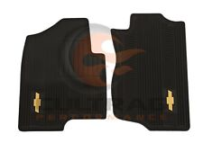 2007-2014 Silverado Tahoe Suburban Front All Weather Floor Mats Black 12499639
