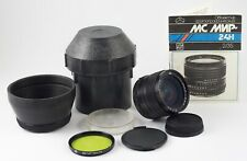 MC MIR 24N 24H F/2 35mm SLR  NIKON F LENS MINT OPTICS + FILTERS HOOD BOX MANUAL