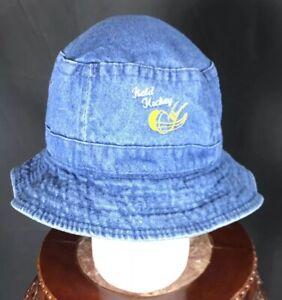 Field Hockey Denim Bucket Hat Cap Cotton Blue Osfa PreOwned