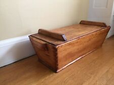"HUGE  34"" Antique Wood Dough Bin Shaker Pine Dovetailed Basin Box W Lid"