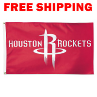 Deluxe Houston Rockets Logo Flag 2018 NBA Basketball Fan Banner 3X5 ft New