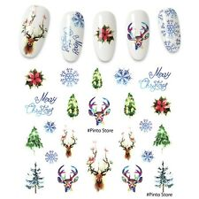 1 piece Stickers for nails Flower Leaf Tree Green Simple Summer Stickers.