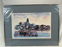 Robert Kennedy Watercolor Print Signed, Matted,Framed View Provincetown a871