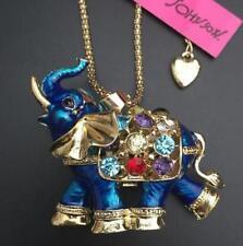 Fashion Jewelry Betsey Johnson Pendant Rhinestone enamel Elephant Necklaces