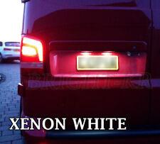 VW T5 TRANSPORTER 2003+ LED Number Plate Light Bulbs - BRIGHT XENON WHITE CANBUS