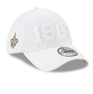 New Orleans Saints New Era Team On Field Rare White 39THIRTY NFL Flex Fit Hat!