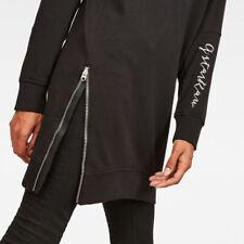 G Star Raw fabuloso laterales con cremallera Ilou Negro Suelto a Media Longitud sudor vestido nuevo M