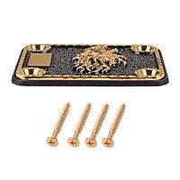 Black&Gold Guitar Neck Reinforcing Plate&Mounting Screws for Fender Strat Tele