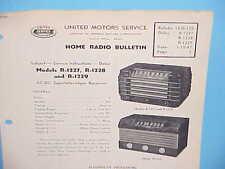 1947 UNITED MOTORS DELCO GM HOME RADIO SERVICE MANUAL MODELS R-1227 1228 1229
