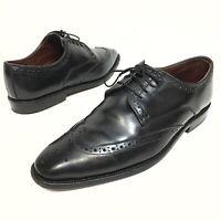 @@ Allen Edmonds Bel Air Black Leather Wingtips Size 9D Resoled Dress Oxfords