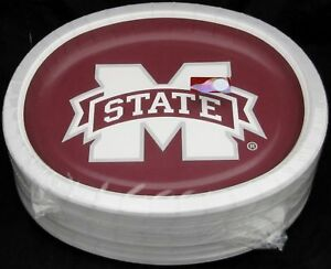 Mississippi State Bulldogs Performa Paper Plates NCAA Football Party (50 Pack)
