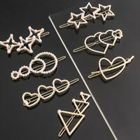 1Pcs Rhinestone Clip Women Barrette Geometric Crystal Hairpin Hair Accessories