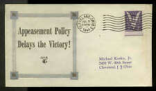 WWII PATRIOTIC -APPEASEMENT POLICY DELAYS VICTORY 7/9/44  LINTO SHERMAN #607