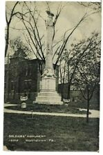 Norristown Pa Soldiers Monument Postcard N16