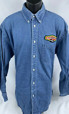Arctic Cat Team Mens XL Denim Button Up Shirt Butterfield Stage