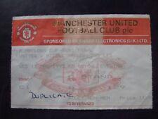 MANCHESTER UNITED V MIDDLESBROUGHT  11/03/1992  USED TICKET STUB
