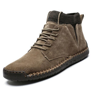 Skechers | Mens Leather Winter Warm Boots | Snow Ankle Boots | Casual snow Shoes