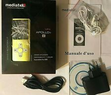 """MEDIATEK APOLLO+ LETTORE MP4 MP3 GIALLO 8GB LCD 1,8"""" RADIO FM PLAYER ASF WMA AVI"""