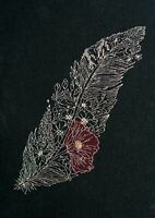 Counted Cross Stitch Kit Silver Feather