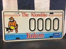Vintage Yukon SAMPLE License Plate
