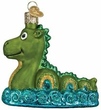 Loch Ness Monster Ornament Old World Christmas New Blown Glass Glitter Accents