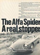 1969 Alfa Romeo Spider Veloce - Original Advertisement Print Art Car Ad J698