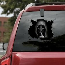 Autoaufkleber Totenkopf Auto Folie Car Tattoo Skulls 30x20 cm Heckscheibe