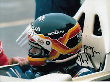 Thierry Boutsen Hand Signed Helmet Photo 8x6.