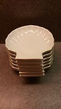 SET OF 6 PORCELAIN BY DESIGN SHELL SHAPED SAUCE SUSHI BUTTER DISHES