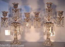 Rare paire de grands chandeliers émaillés BACCARAT Napoléon III - ht 54cm