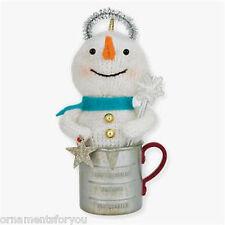 Hallmark 2010 A Cupful of Wishes Snowman Ornament