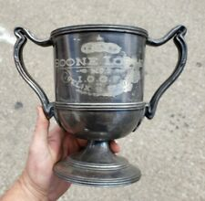 1910 IOOF Odd Fellows Boone Lodge No.1 Pewter Trophy Cup FLT To Felix Dumas NG