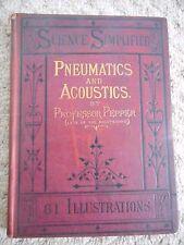 PNEUMATICS AND ACOUSTICS BY PROFESSOR J.H. PEPPER (FREDERICK WARNE & CO, c1870)