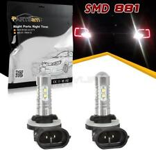 2x 50W 6000K Super Bright White 881 Cree LED Fog Driving Light Bulb for Ford